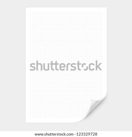 white graph Curved Corner paper - stock photo