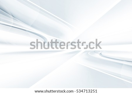 White gray perspective background. Blurred pattern lines. Abstract creative graphic. Decorative wallpaper style.