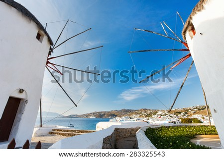 Mykonos, Greece. Family summer vacation travel in Europe