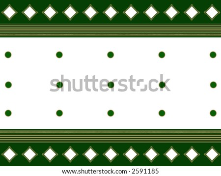 White, green and golden indian design