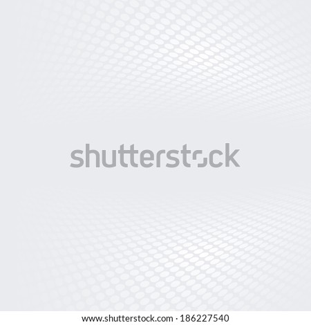 White & grey abstract perspective background (Raster version - A bit lightened tone) #186227540
