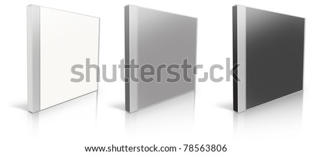 White, grey and black blank cd case - put your own design on it!