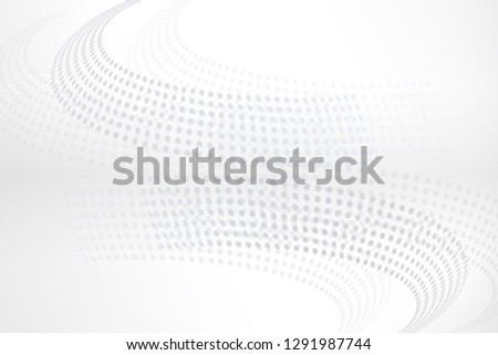 White grey Halftone Background , Technology Background #1291987744