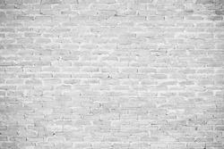 White grunge brick wall background or texture
