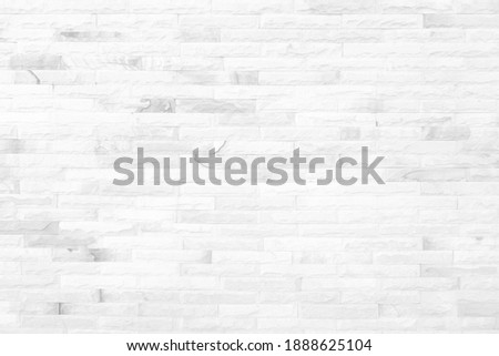 White grunge brick wall texture background for stone tile block painted in grey light color wallpaper modern interior and exterior and room backdrop design
