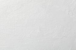 White grunge brush stroke on canvas background