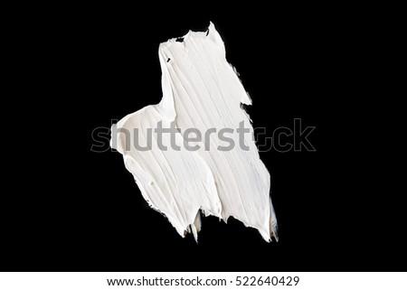 white grunge brush strokes paint on black background #522640429