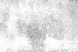 White Grunge Peeling Painted Concrete Wall Texture Background.