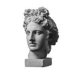 White gypsum statue of Apollo's head