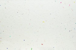 white handmade paper texture with colorful spots