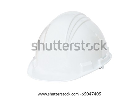 White hard hat on white background