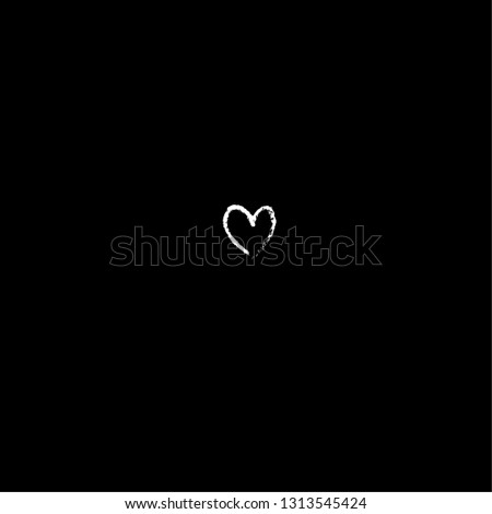 White heart on a black background #1313545424