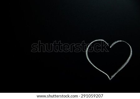 White heart on a chalkboard  #291059207