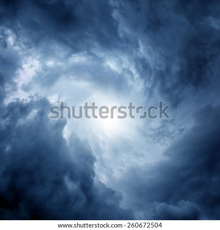 White Hole in the Whirlwind of dark storm clouds