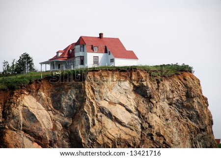 White House at the top of the cliff