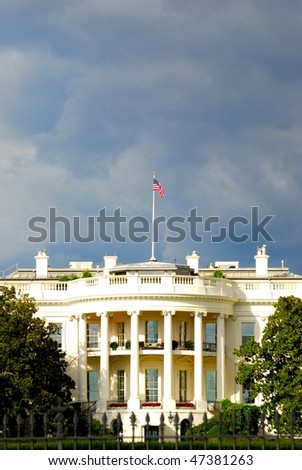 White house before storm