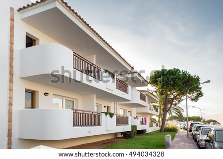 White house in Spain #494034328