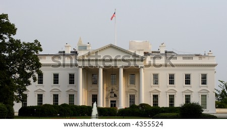 White House on Pennslyvania Avenue in Washington DC.