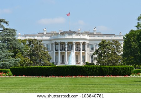 White House - Washington DC - stock photo