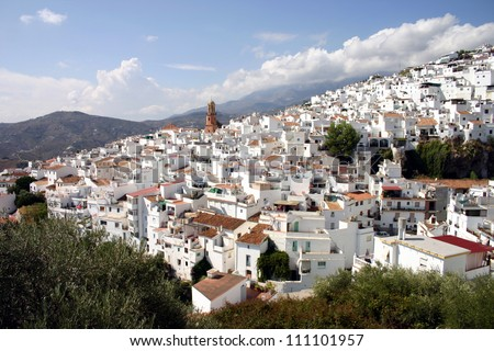 White houses of Competa in Andalusia, Spain.