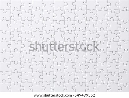 White jigsaw puzzle - Shutterstock ID 549499552