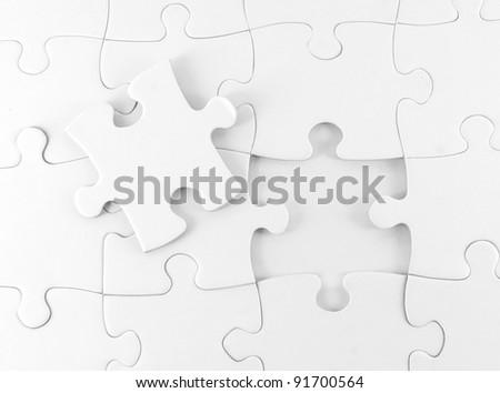 White Jigsaw puzzle background
