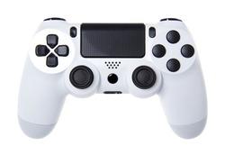 White joystick isolated on white background