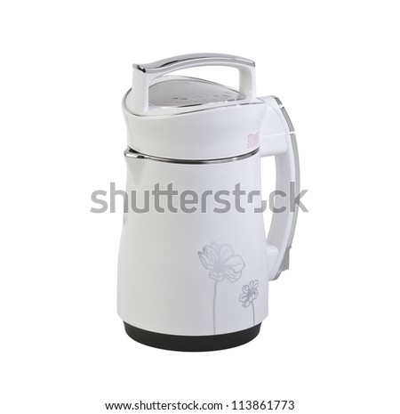 White kettle water boiler isolates