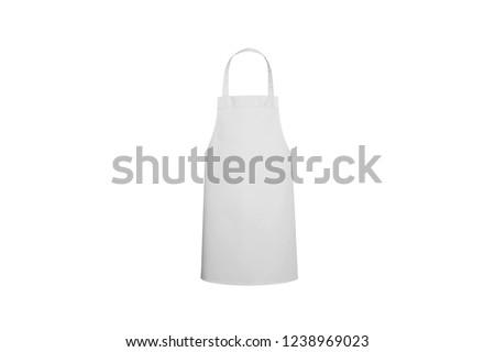 White Kitchen Apron ストックフォト ©