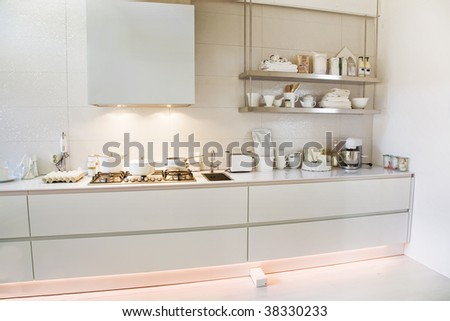 white kitchen in country style