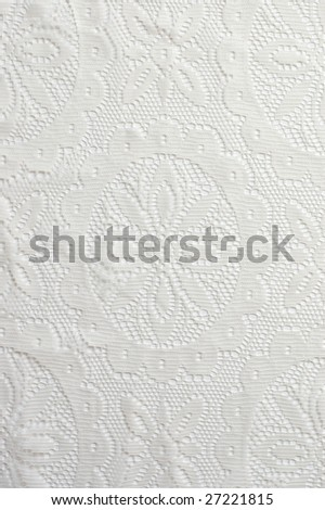 White lace abstract background closeup