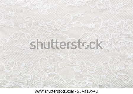 White lace background - Shutterstock ID 554313940