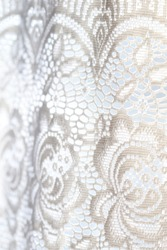 white lace texture natural background