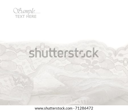 white lace with the place for your text