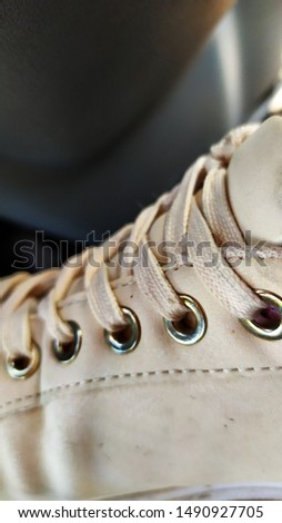white laces laced on sneakers #1490927705