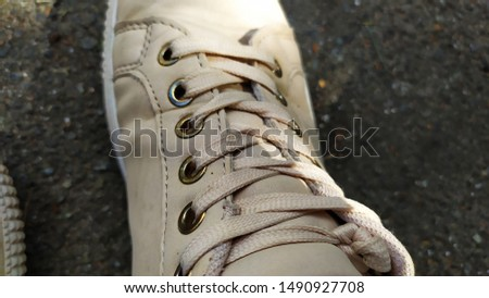 white laces laced on sneakers #1490927708