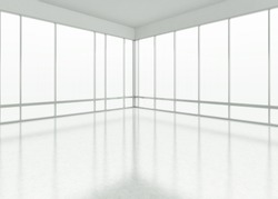white large office space