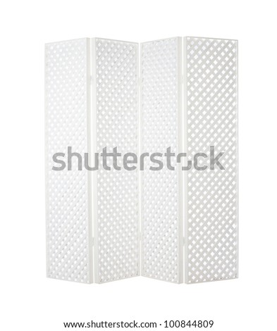 White lattice wooden partition for home or garden decoration