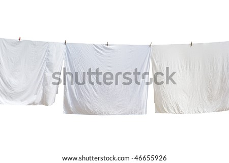White laundry. Element of design. - stock photo
