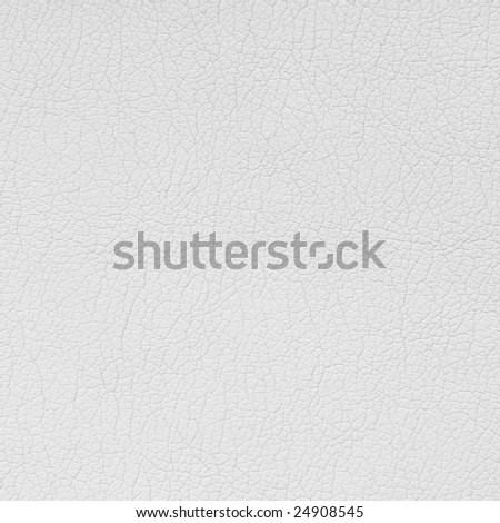 White leather background. Square