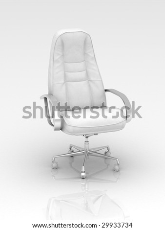 White Leather Low Back Swivel Office Chair - EuroStyleLighting.com