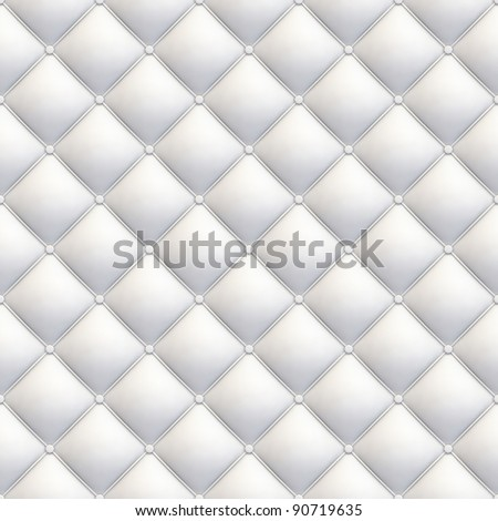 white leather upholstery seamless tile-able texture with great detail for background, check my port for similar - stock photo