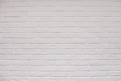 White light brown beige brick wall texture for pattern background. High quality photo
