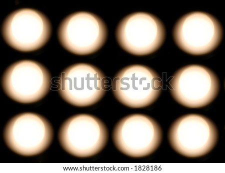 white light circles - stock photo