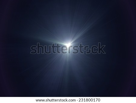 Photo of  White light on black background