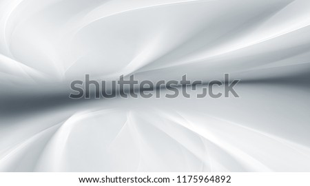 White lighting futuristic perspective background. Horizon grey backdrop.