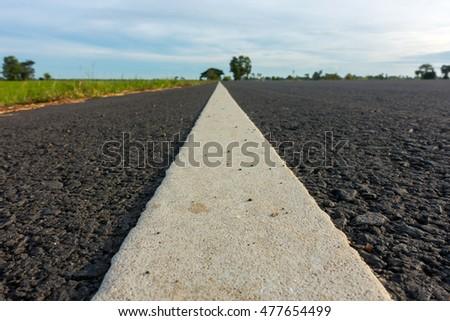 White line road Stock fotó ©