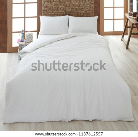 white linen and pillow #1137612557