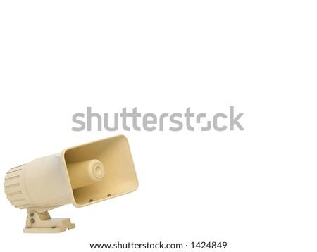 White loudspeaker isolated on white background