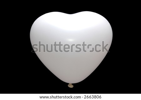 White Love baloon isolated